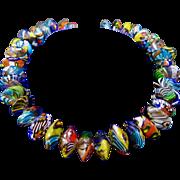 Vintage Italian Millifiori Glass Beads