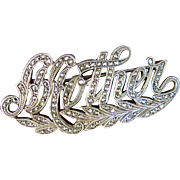 "Vintage Marcasite ""Mother"" Pin"