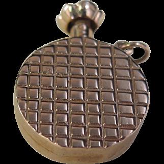 Vintage 1940's Miniature 14K Gold Perfume Bottle Pendant