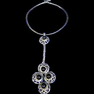 Vintage Sterling Silver Israeli Designer Necklace/Pendant