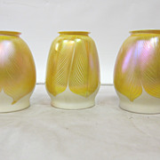 Quezal Art Glass Shades (3)