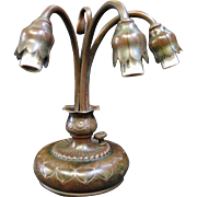 Tiffany Studios 3 Light Lily (piano) Lamp Base