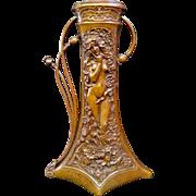 Vintage Art Nouveau bronze Vase by Charles Korschann