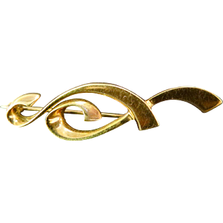 Vintage 18K Gold Paloma Picasso Lapel Pin for Tiffany & Co.
