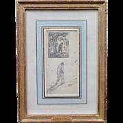 """""""Days End"""", Vintage Pencil Drawing by Eugene Higgins"""
