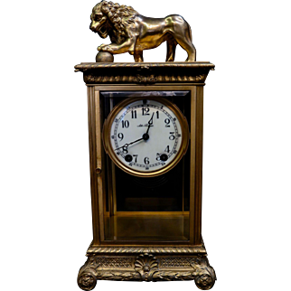 Vintage Seth Thomas Mantle Clock w/ Figural Case