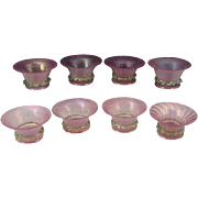 (8) Salviati Murano Adventurine Venetian Art Glass Sherbets or Berry Bowls