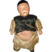 "6"" Micale Lee Chinese Grandfather Character Doll c1940s Hong Kong"