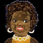 Norah Wellings Glass Eye Islander Novelty Black Cloth Doll