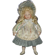 Artist All Bisque Dollhouse Victorian Style Child Doll Possibly by Jan Clarke Sunday Dolls England