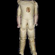 """17"""" Kestner Leather Body for German Bisque Shoulder Head"""