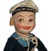 Norah Wellings Empress of Australia Sailor Cloth Doll England 1930's-1950s