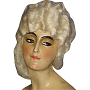 Art Deco Wax Half Doll Bust  & Bisque Arms Germany 1920s