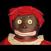 Vintage Beloved Belindy Black Rag Cloth Doll
