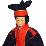 Ronnaug Petterssen Sami Lapland Boy Doll Norway 1940s-on