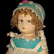 "Early All Original 12"" Lenci Felt Doll Italy 1926"
