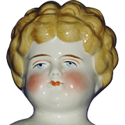 """19"""" Blonde Hair Low Brow China Doll 1890's Hairstyle Germany"""