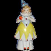 Jester Clown Female Perfume Bottle Figural Porcelain Japan VIntage
