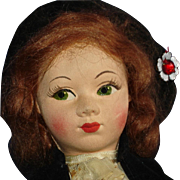 Chad Valley Scottish Lass with Royal Warrant Label Cloth Doll 1930s-on
