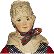 Artist  Ingeborg Nielsen Regional Cloth Doll Denmark 1940s-on