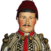 "14"" Greek Folk Art Doll Costumed by Julius Wallach Germany 1913-on - Red Tag Sale Item"