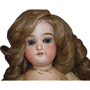 """17"""" Gebruder Kuhnlenz 165 Bisque Head Doll on Teenage Type Body Germany 1890-on"""