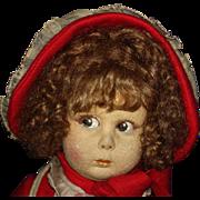 "13"" Lenci Felt Doll Series 111 Original 1920s Italy"