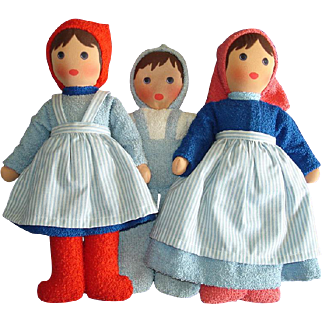 Kathe Kruse Family Timmermann Toweling Material Dolls 1969-on