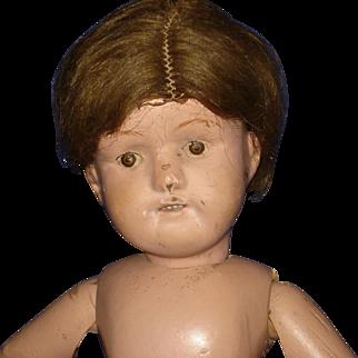 """Schoenhut 15"""" Miss Dolly Wooden Doll to Restore"""