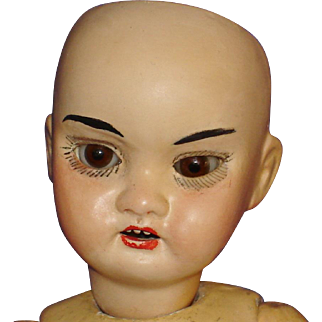 """8"""" Armand Marseilles Asian Bisque Head Doll Repaired 1920s"""