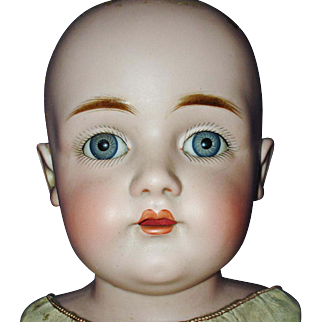 "22"" Kestner 154 Bisque Shoulder Head on Kid Body c 1892-on"