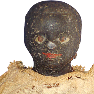 Black Paper Mache Milliner's Model Doll German 1860s