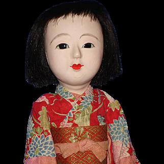 "11"" Later Ichimatsu-ningyo Girl Doll in Original Kimono Japan 1950s"