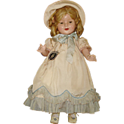Horsman Bright Star Tag Shirley Temple Type Composition Doll 1937