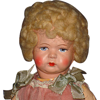 """11"""" German Pouty Composition Toddler Art Doll Original 1920s-on"""