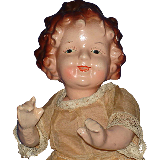 """7"""" Japan Shirley Temple Composition Doll c1930's-40s"""