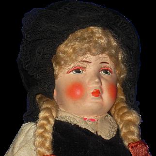 "11"" Bing Art Pouty Cloth Doll Original Germany 1922-32"