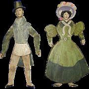 Vintage Victorian Style Jumping Jack Wooden Novelty Dolls
