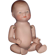 "4"" All Bisque Bye-Lo Baby & Provenance Doll c1925"