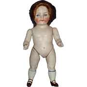 """5.5"""" All Bisque Chunky Girl Doll #516 Germany Repaired"""