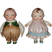 All Bisque Happifats Character Dolls Germany c1913