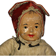 """10"""" Five Finger Ching Painted Cloth Missions Doll China 1911-on"""
