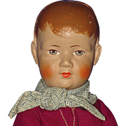 """10"""" Bing Art Pouty Cloth Boy Doll Germany 1922-32"""