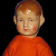 "10"" Bing Art Pouty Cloth Girl Doll Germany 1922-32"