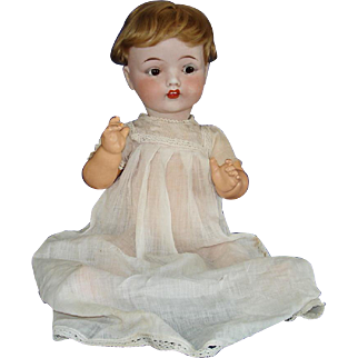 Horsman Fulper Pottery Bisque Head Baby Doll 1919 USA