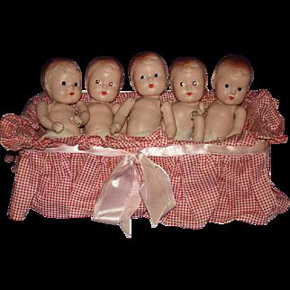 Dionne Quints Type Composition Babies 1930s