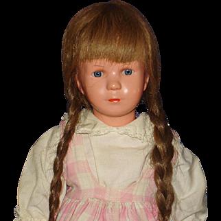 Kathe Kruse Turtle Mark Doll with Glass Eyes Germany 1955-61