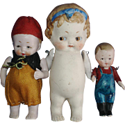 All Bisque Hertwig Googly Doll & Friends Germany 1910-on