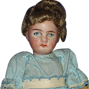"""5"""" Bisque Sockett Head Doll  on Composition Body Germany 1880's-on"""