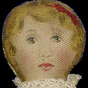 "Mini 8"" Lithograph Rag Cloth Doll Kirkham Vintage"
